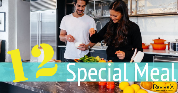 married couple cooking together in kitchen 12 special meal