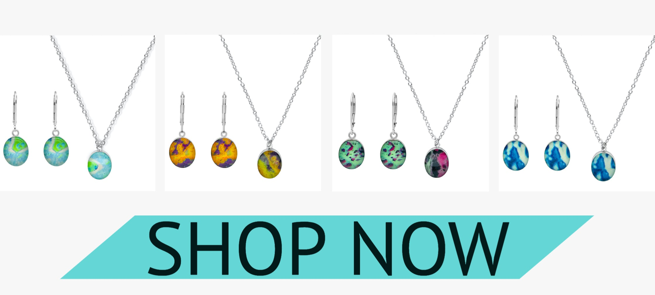 awareness jewelry sets embrace necklace and earrings that give back