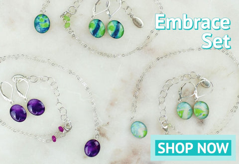 embrace jewelry gift set for disease and cancer awareness