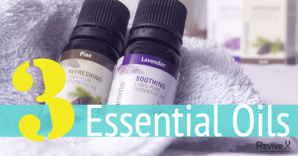 pine and lavender bottles 3 essential oils