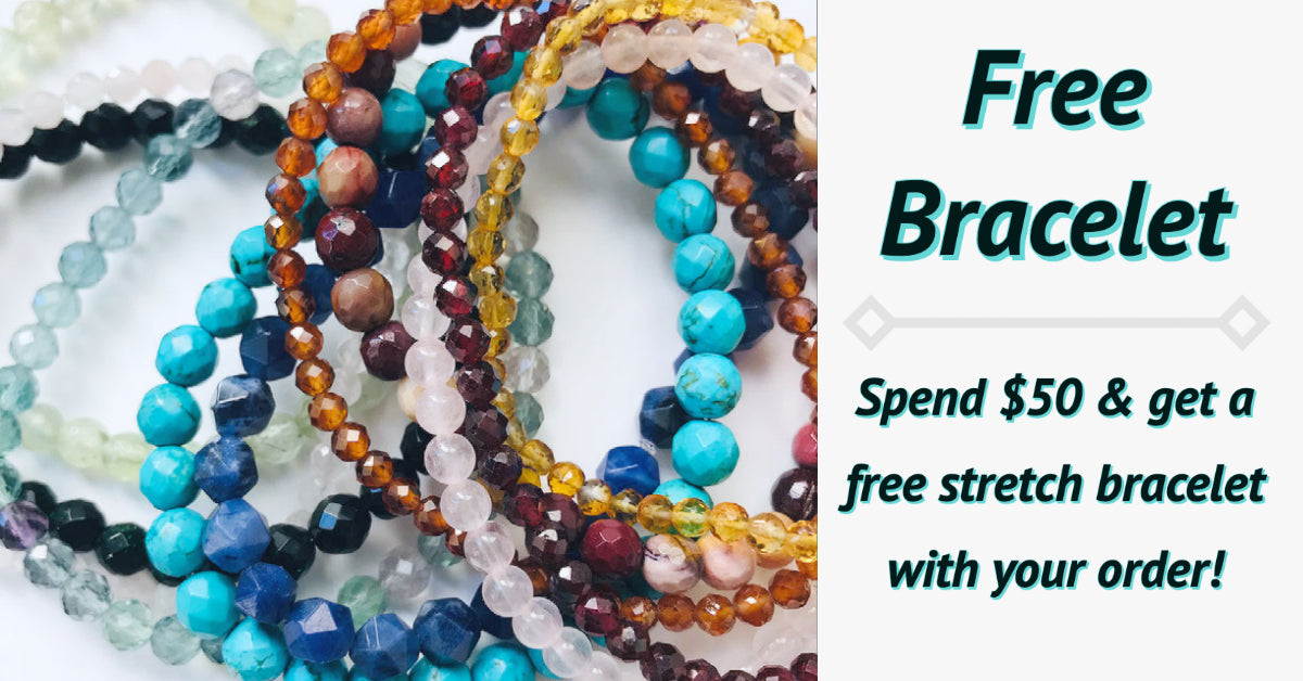 Free bracelet spend $50 and get a free stretch bracelet with your order