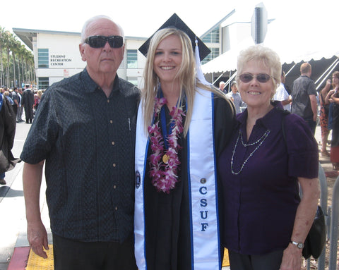 Nikki and Grandpa Mike and Grandma Carolyn at Nikki's College Graduation from CSUF