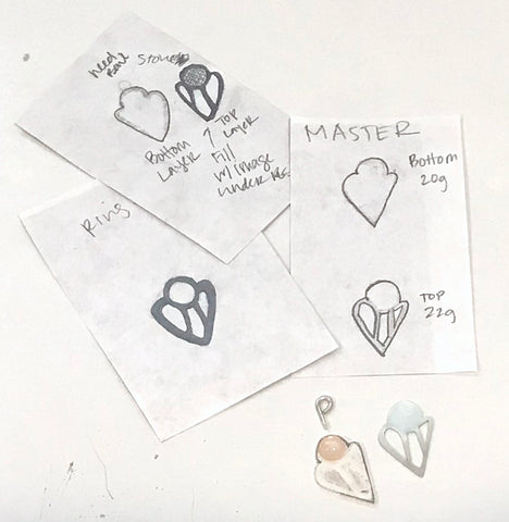new jewelry design sketches