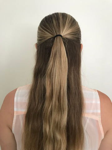 half up hair from behind
