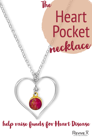 Heart Shaped Necklace for heart disease research