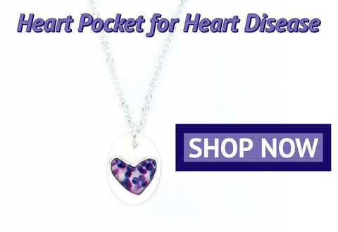 helping hearts necklace for lupus awareness that gives back