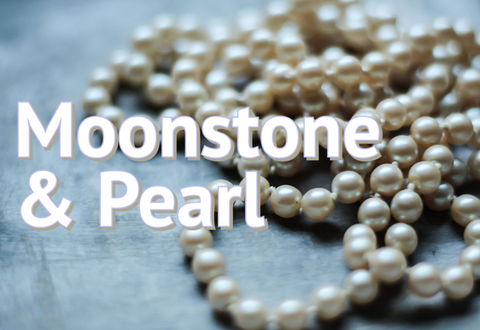 strand of pearls on table moonstone and pearl