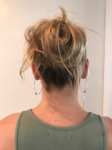 messy bun from behind