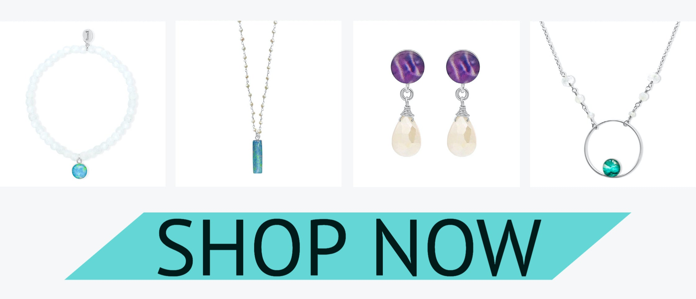 moonstone and pearl awareness jewelry styles for June birthday shop now