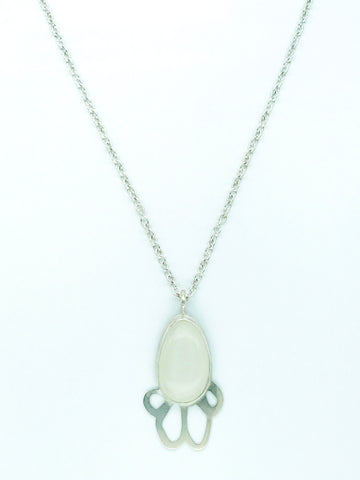 moonstone and silver chain necklace for liver disease