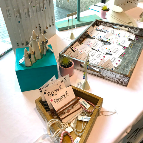 revive jewelry table display