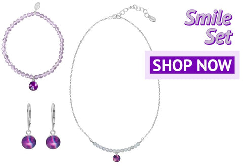 smile jewelry set for awareness