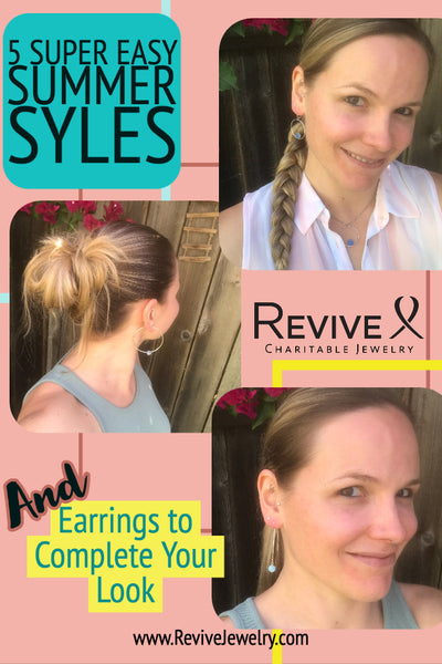 summer hair styles and earrings to match
