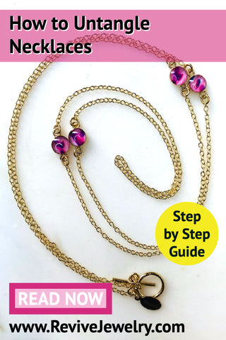 how to untangle your jewelry stress free step by step guide to untangling necklaces and chains