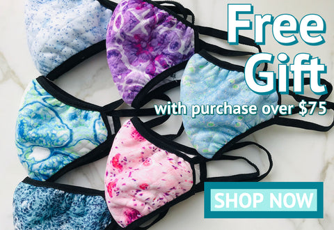 free gift with purchase over $75 with face mask