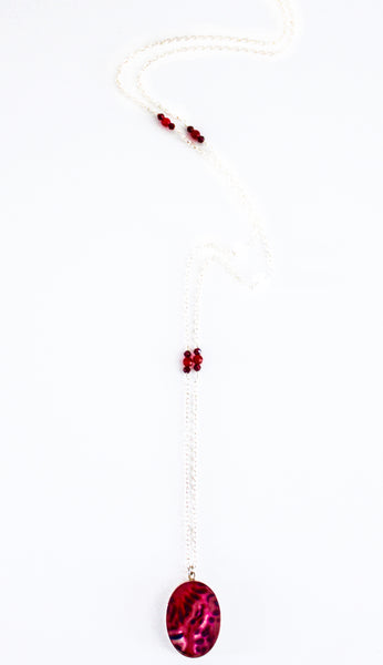 Arteriosclerosis Inspired Long Necklace