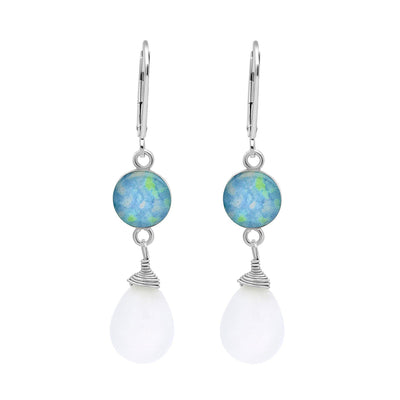 Alzheimer's awareness Kindred Spirits Earrings in moonstone