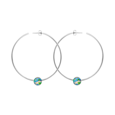 hoop earrings for Alzheimer's awareness and research
