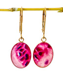 Breast Cancer Inspired Gold Filled Earrings