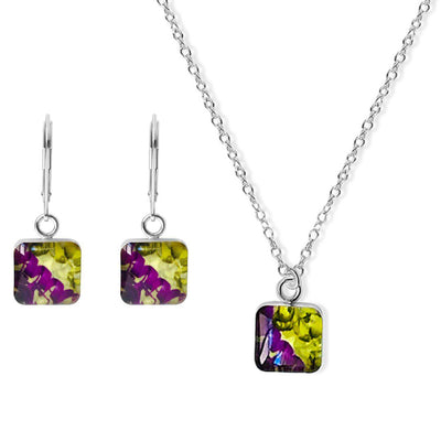 GRIN2B awareness jewelry set of earrings and necklace