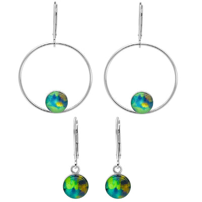 Unity earrings set for awareness that give back to charity