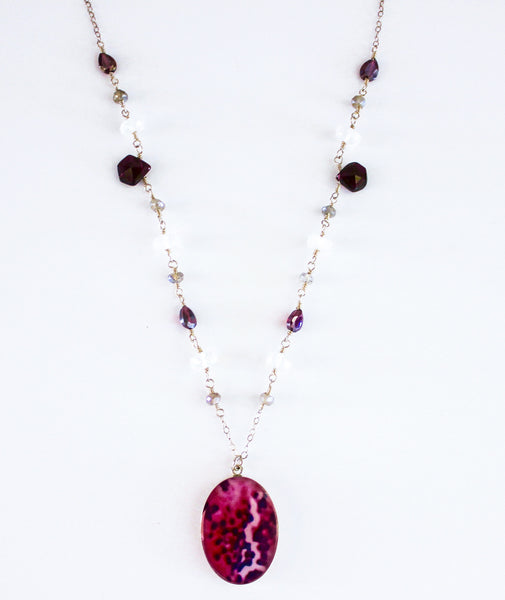 Arteriosclerosis Inspired Multi Stone Short Necklace