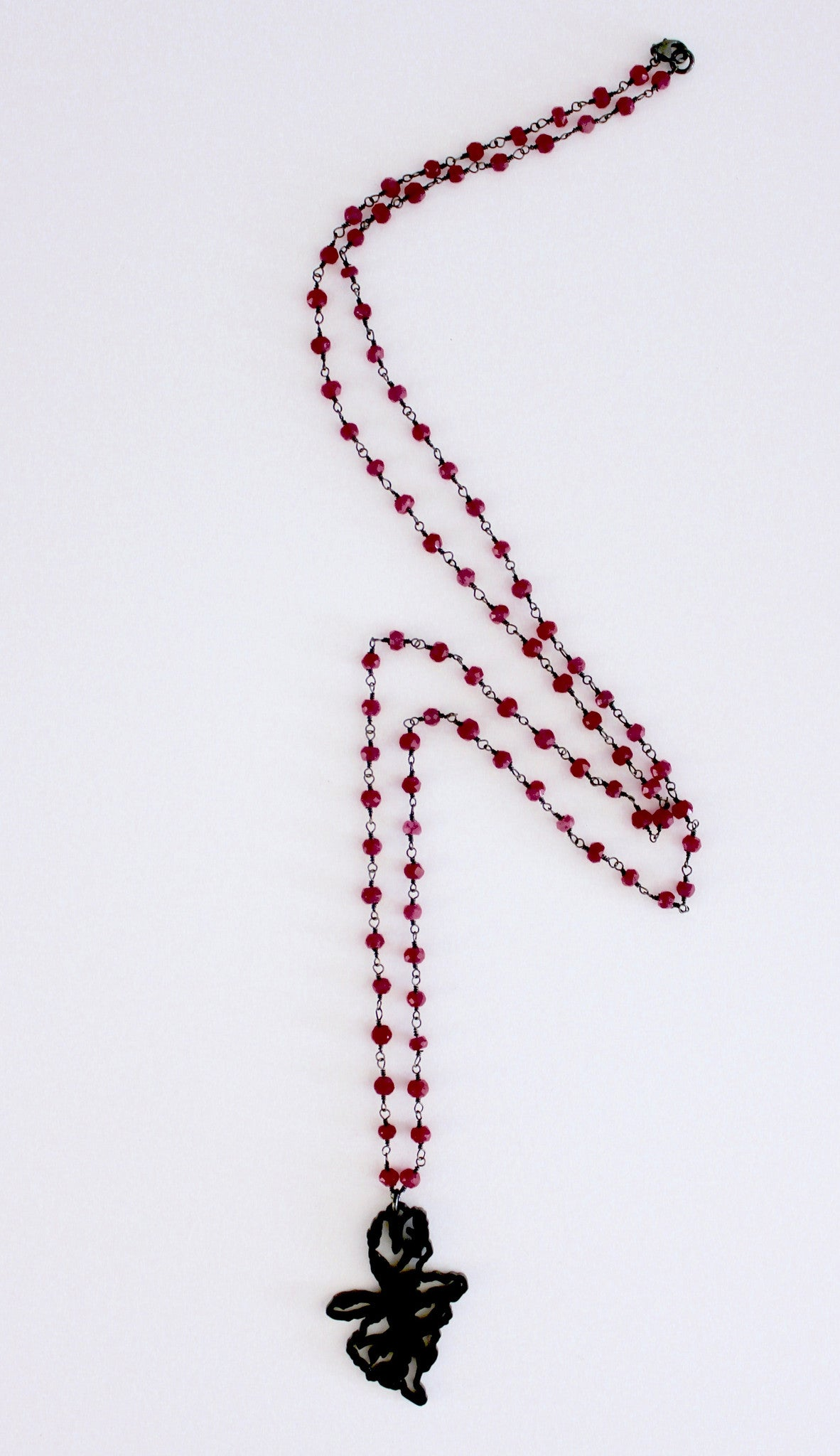 Lung Cancer Inspired Ruby Chain Necklace
