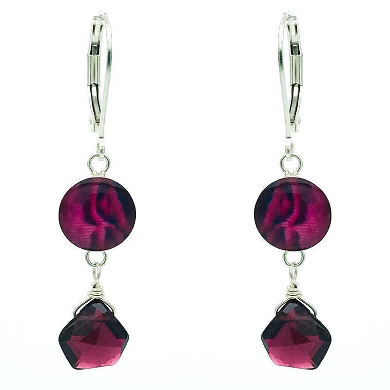 Kindred Spirits Earrings In Garnet