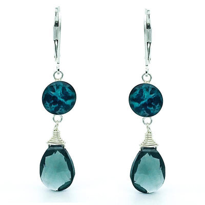Ovarian cancer awareness Kindred Spirits Earrings in Blue Quartz-Earring