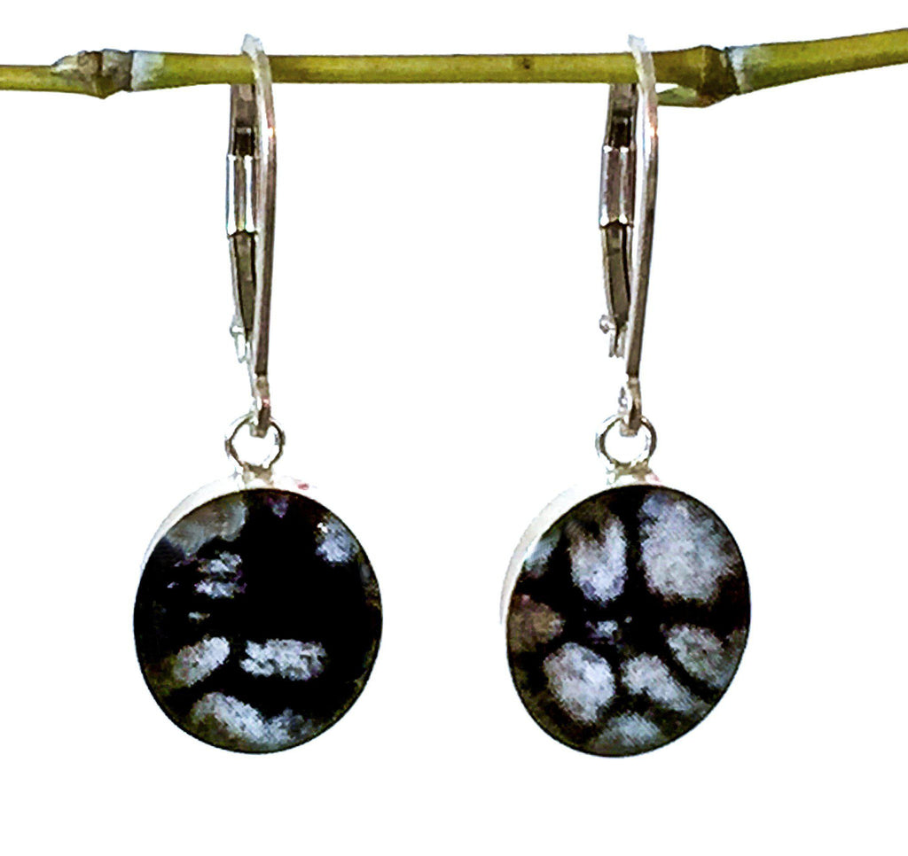 Lung Cancer Inspired Sterling Earrings