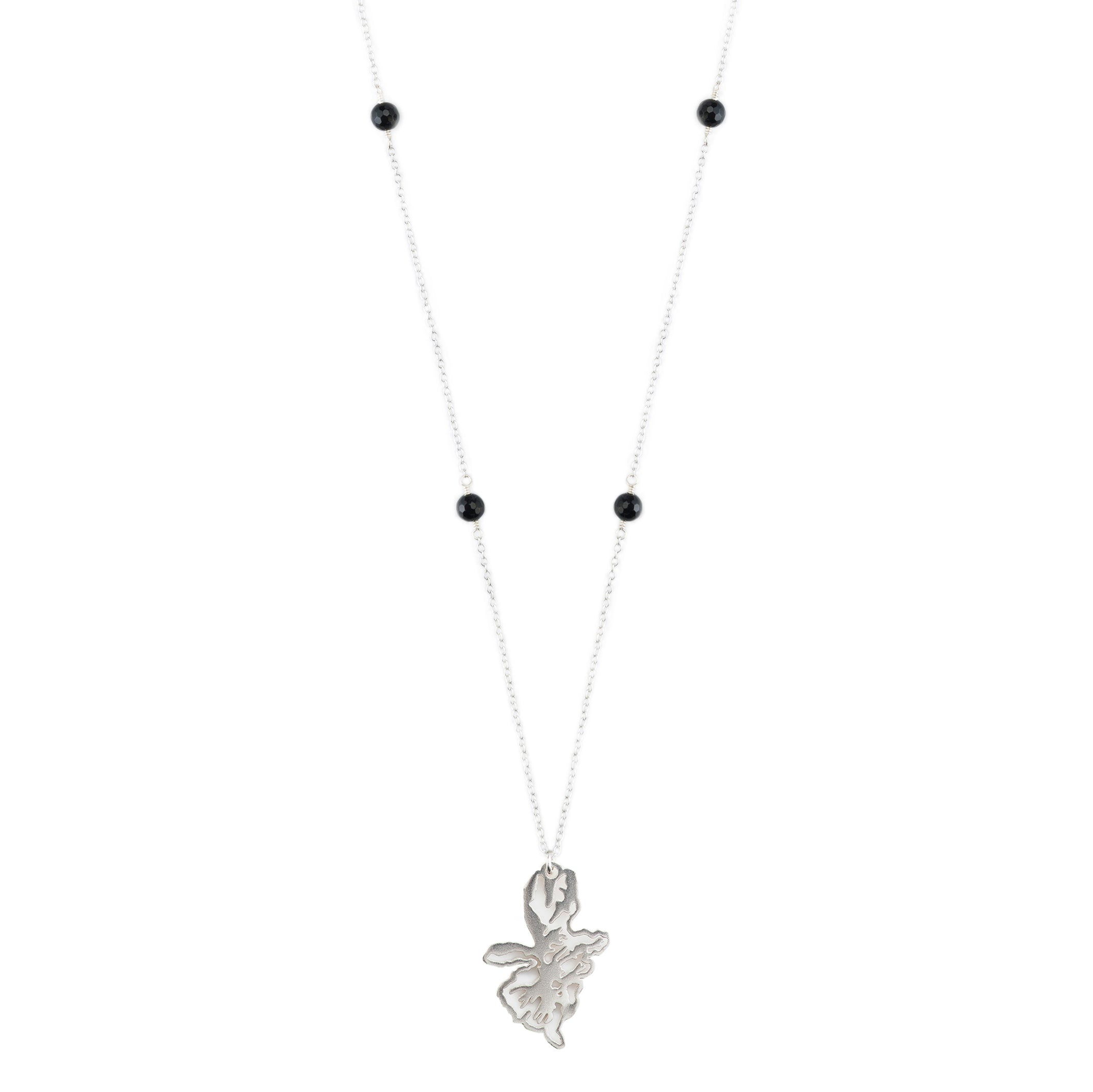long silver chain necklace with sterling silver chain spinel stones and sterling silver pendant necklace