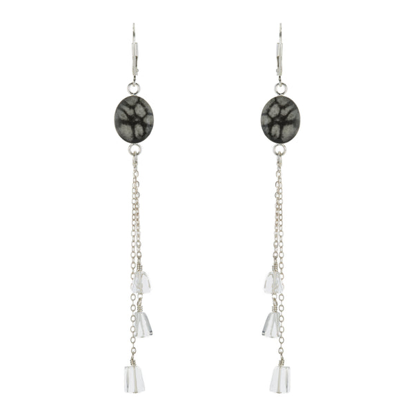 Quartz Chandelier Cause Earring