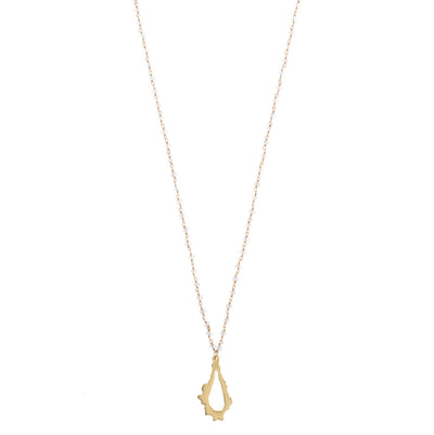 long gold necklace with 14k gold vermeil crystal quartz chain and 14k gold plated pendant necklace