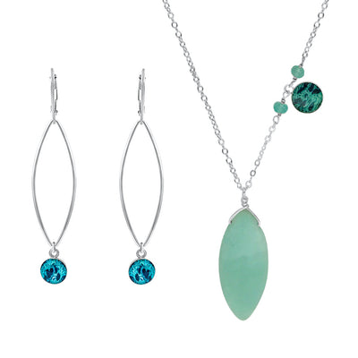 warrior awareness jewelry set for ovarian cancer that gives back to charity