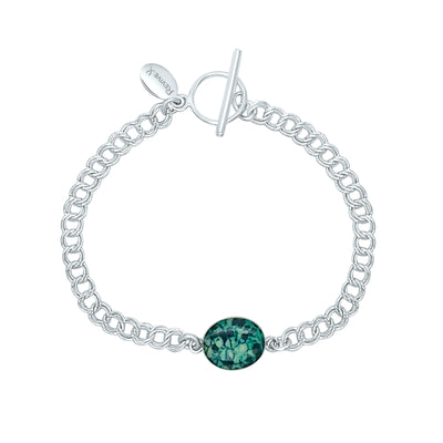 Ovarian cancer awareness bracelet with resin pendant