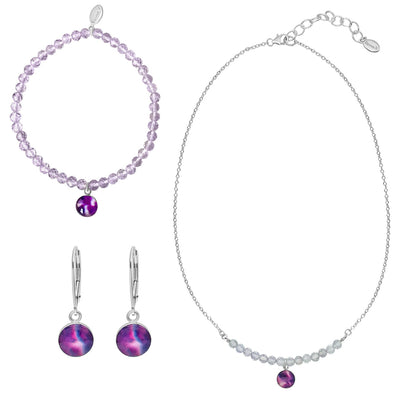 Smile awareness jewelry set that gives back to charity and raises awareness