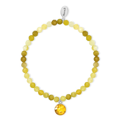 yellow opal bead stretch bracelet for sarcoma awareness and research