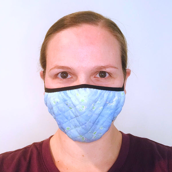 model wearing Alzheimer's face mask