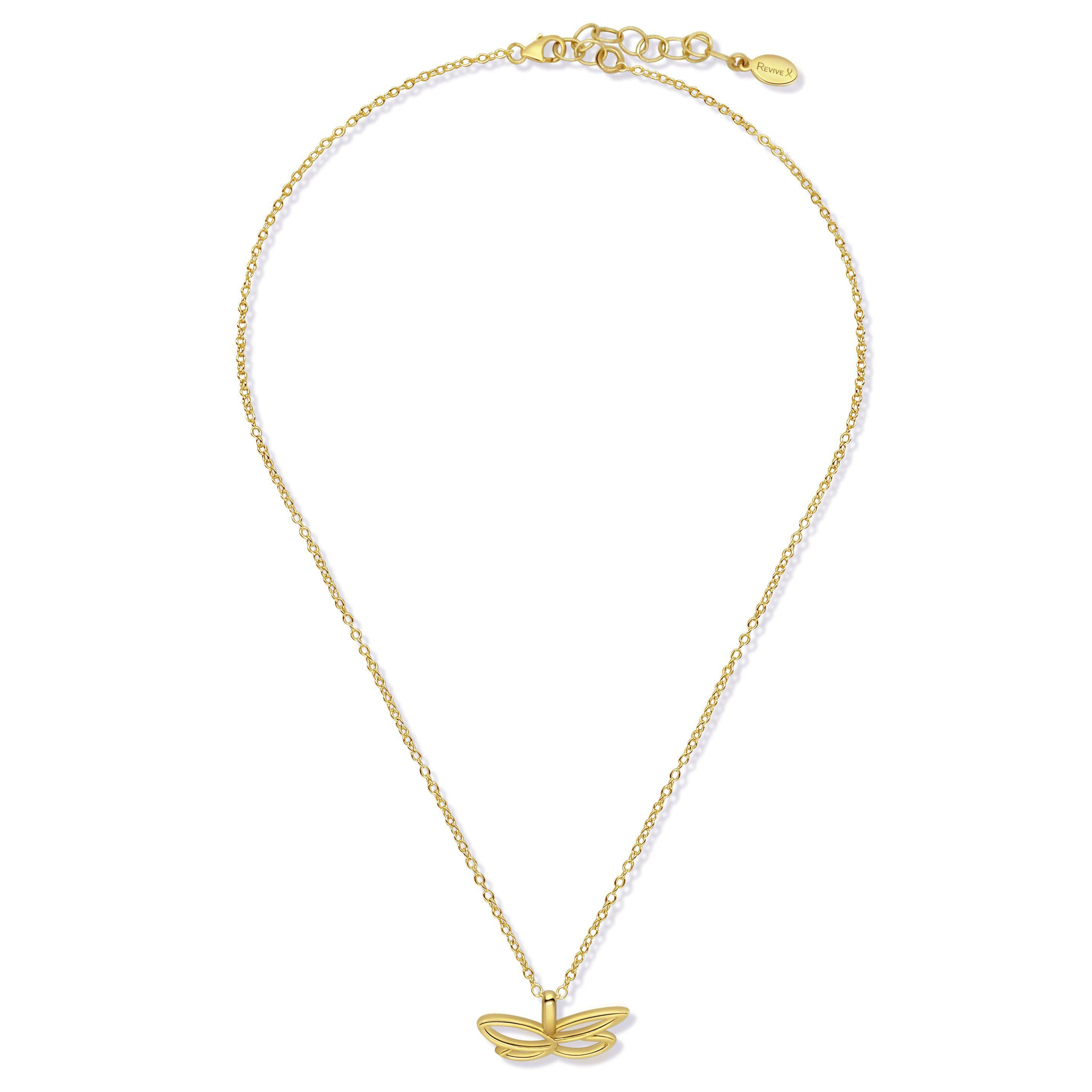 Gold Butterfly for Breast Cancer Research Necklace