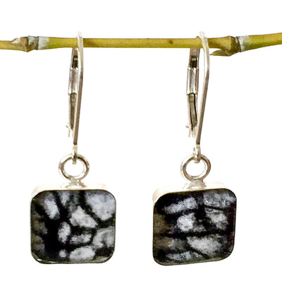 Lung Cancer Inspired Sterling Earrings-Earring-Revive Jewelry-Revive Jewelry