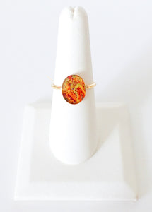 Prostate Cancer Inspired Gold Filled Ring