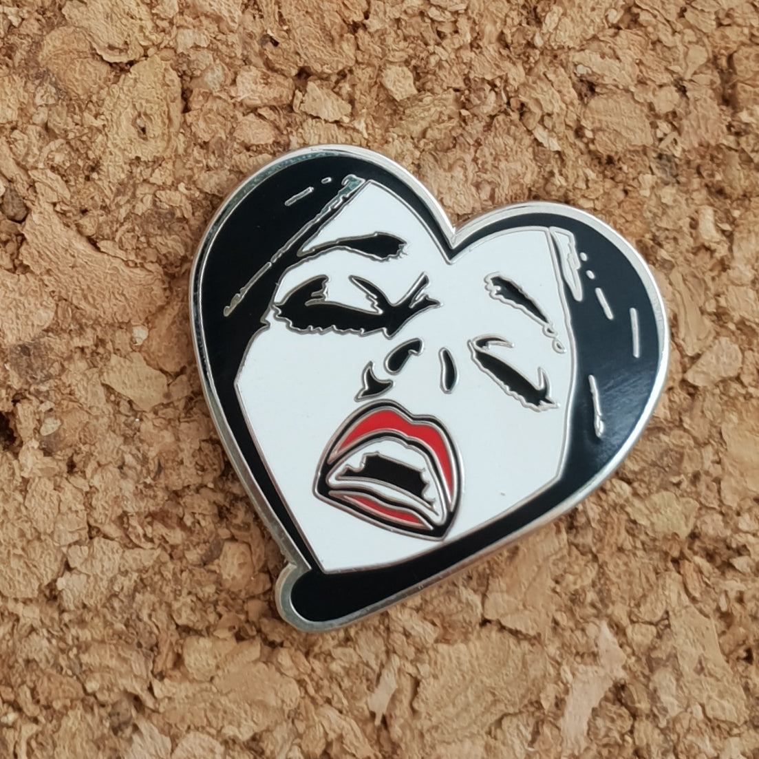 White and Silver Gasm Pin