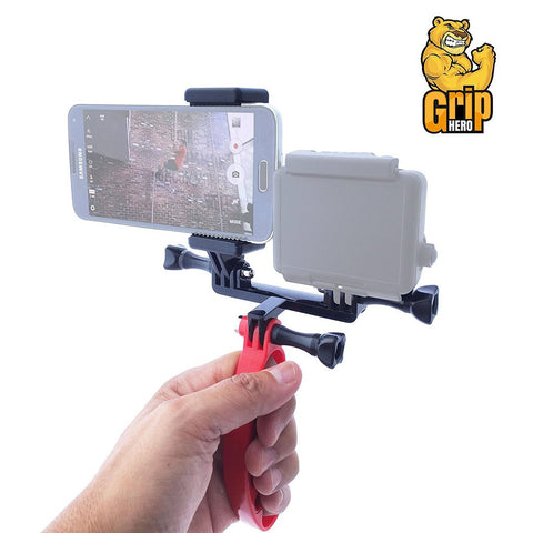 3 in 1 Hand Held GoPro Stabilizer Mount for GoPro Hero - Smartphone Simultaneously