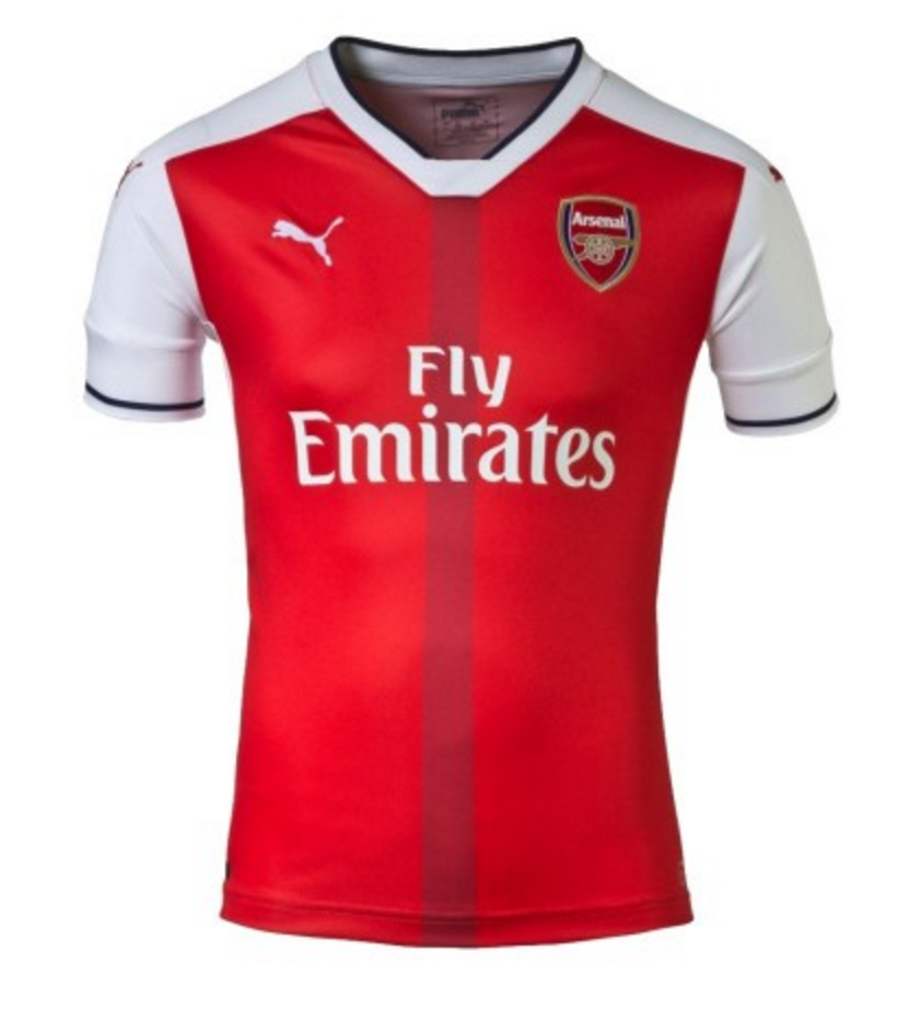 Customized Arsenal 'Premier League' Soccer Jersey - 2016/2017 Holiday Deal!