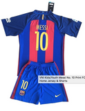 Customized FC Barçelona Kids Soccer Kit- 2016/2017 Hot!