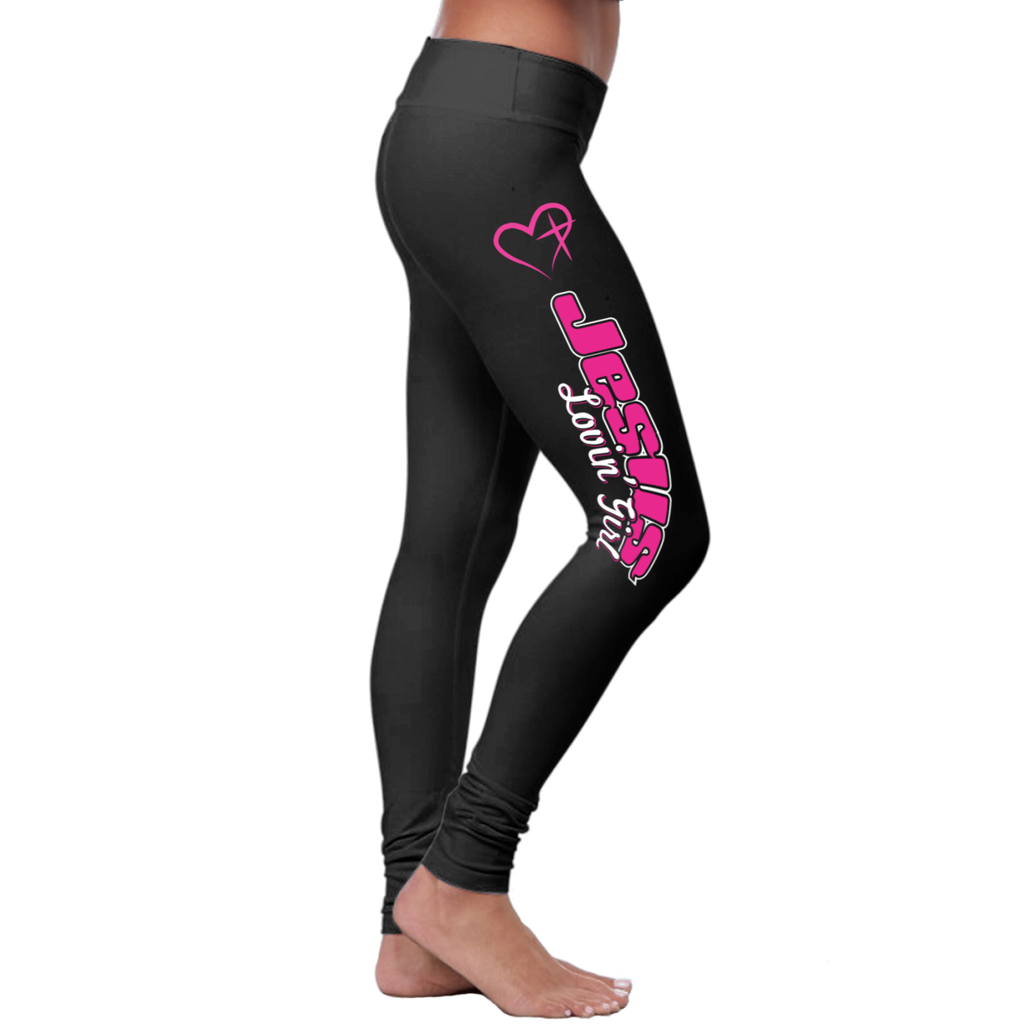 Christian Jesus Loving Girl - Leggings