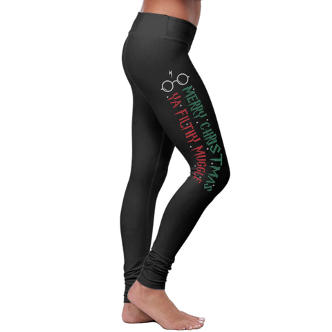 Christmas Merry Christmas Filthy Muggle - Leggings