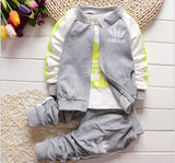 Kid 3pc/set Boys/Girls 2016 Coats And Jackets Pants Set