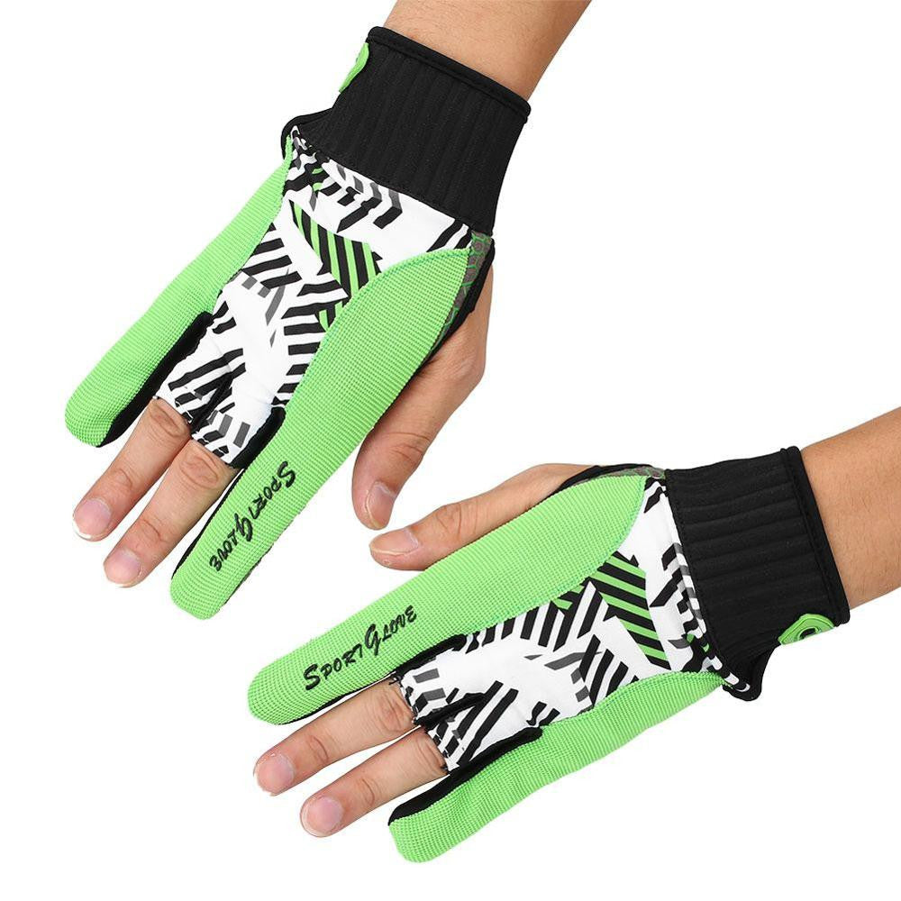 Non-slip Professional Sport Fitness Protective Semi-finger Bowling Ball Gloves