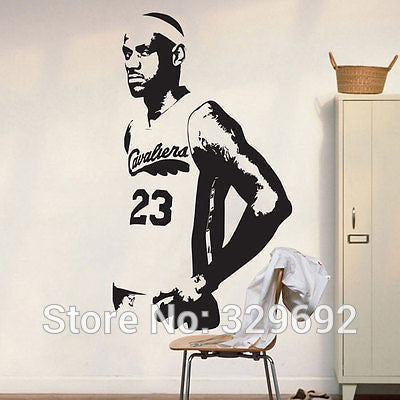 BASKETBALL LeBRON JAMES NBA WALL DECAL DECOR STICKER Wall Stickers Bedroom Decor tx-408
